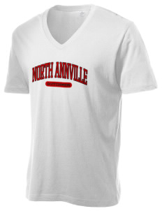 North Annville Elementary School Dutchmen Alternative Men's 3.7 oz Basic V-Neck T-Shirt