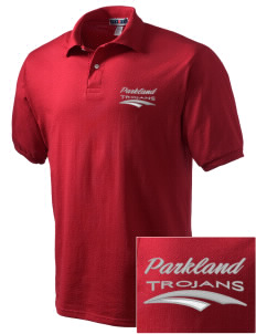 Parkland High School Trojans Embroidered Men's Jersey Polo