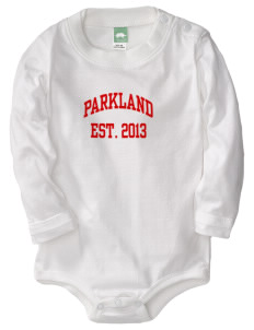 Parkland High School Trojans  Baby Long Sleeve 1-Piece with Shoulder Snaps
