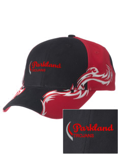 Parkland High School Trojans  Embroidered Colorblock Racing Cap with Flames