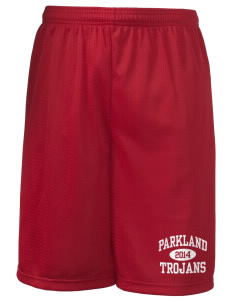 "Parkland High School Trojans Men's Long Mesh Shorts, 9"" Inseam"