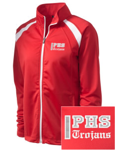 Parkland High School Trojans Embroidered Women's Tricot Track Jacket