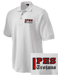 Parkland High School Trojans Embroidered Tall Men's Pique Polo