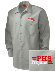Parkland High School Trojans Embroidered Men's Industrial Work Shirt - Regular