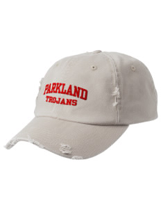 Parkland High School Trojans Embroidered Distressed Cap