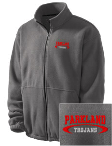 Parkland High School Trojans Embroidered Men's Fleece Jacket