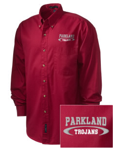 Parkland High School Trojans Embroidered Men's Twill Shirt