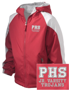 Parkland High School Trojans Embroidered Holloway Kids Homefield Zip Front Jacket