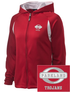 Parkland High School Trojans Embroidered Holloway Women's Synergy Bi-Color Hooded Jacket