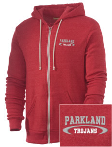 Parkland High School Trojans Embroidered Alternative Men's Rocky Zip Hooded Sweatshirt