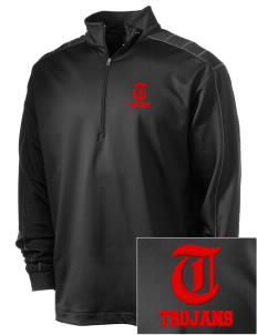 Parkland High School Trojans Embroidered Nike Men's Golf Dri-Fit 1/2 Zip
