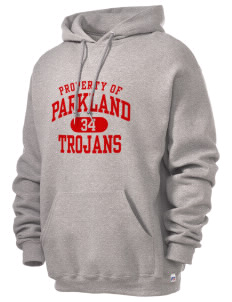 Parkland High School Trojans Russell Men's Dri-Power Hooded Sweatshirt