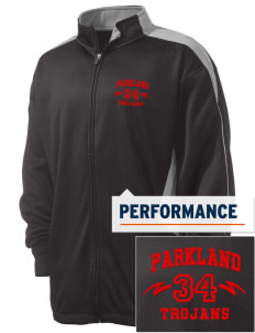 Parkland High School Trojans Embroidered Russell Men's Fusion Tech Fleece Full Zip Jacket