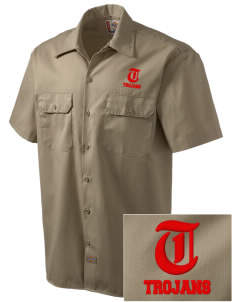 Parkland High School Trojans Embroidered Dickies Men's Short-Sleeve Workshirt