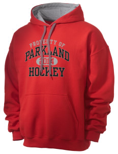 Parkland High School Trojans Men's 7.75 oz Contrast Hooded Sweatshirt