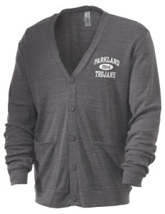 Parkland High School Trojans Men's 5.6 oz Triblend Cardigan