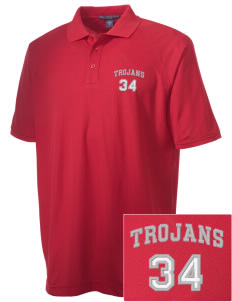 Parkland High School Trojans Embroidered Men's Technical Performance Polo