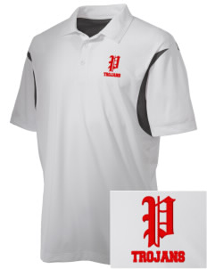 Parkland High School Trojans Embroidered Men's Back Blocked Micro Pique Polo