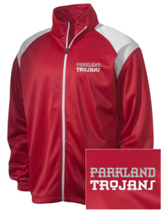 Parkland High School Trojans Embroidered Men's Tricot Track Jacket