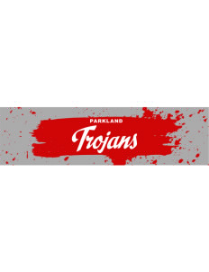 "Parkland High School Trojans Bumper Sticker 11"" x 3"""