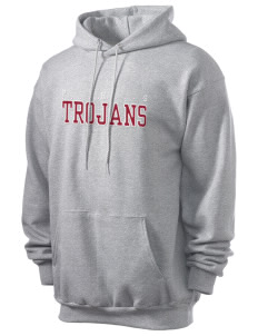 Parkland High School Trojans Men's 7.8 oz Lightweight Hooded Sweatshirt with Tackle Twill