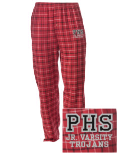 Parkland High School Trojans Embroidered Men's Button-Fly Collegiate Flannel Pant