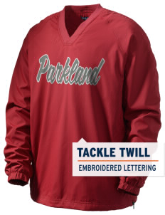 Parkland High School Trojans Men's V-Neck Raglan Wind Shirt with Tackle Twill