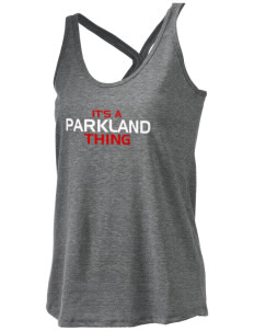 Parkland High School Trojans Women's Tri-blend T-Back Tank