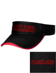 Parkland High School Trojans Embroidered Binding Visor