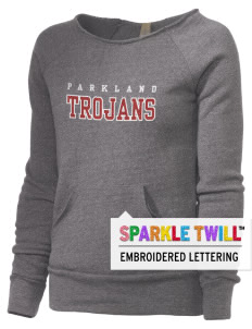 Parkland High School Trojans Alternative Women's Embroidered Maniac Sweatshirt with Sparkle Twill™