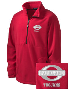 Parkland High School Trojans Embroidered Men's Wintercept Fleece Quarter-Zip Jacket
