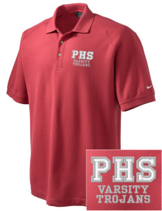 Parkland High School Trojans Embroidered Nike Men's Pique Knit Golf Polo
