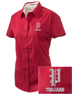 Parkland High School Trojans Embroidered Women's Easy Care Short Sleeve Shirt