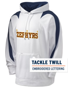 George D Steckel Elementary School Zephyrs Holloway Men's Sports Fleece Hooded Sweatshirt with Tackle Twill