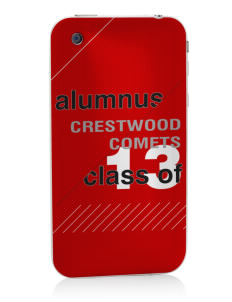 Crestwood Junior High School Comets Apple iPhone 3G/ 3GS Skin