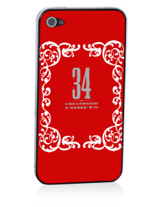 Crestwood Junior High School Comets Apple iPhone 4/4S Skin