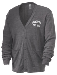 Crestwood Junior High School Comets Men's 5.6 oz Triblend Cardigan