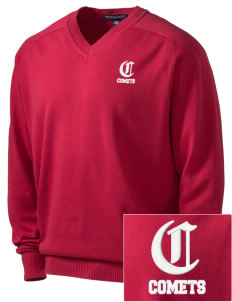 Crestwood Junior High School Comets Embroidered Men's V-Neck Sweater