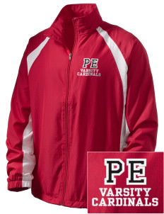 Pocono Elementary Center Cardinals  Embroidered Men's Full Zip Warm Up Jacket