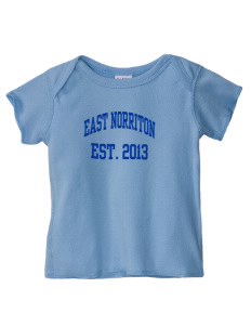 East Norriton Middle School Eagles  Baby Lap Shoulder T-Shirt