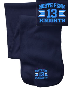 North Penn High School Knights  Embroidered Extra Long Fleece Scarf