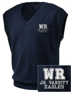 Warrior Run Middle School Eagles Embroidered Men's Fine-Gauge V-Neck Sweater Vest
