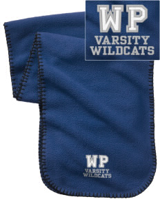 West Point Elementary School Wildcats Embroidered Fleece Scarf