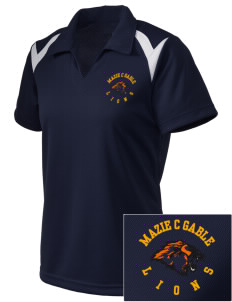 Mazie C Gable Elementary School Lions Embroidered Holloway Women's Laser Polo