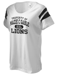 Mazie C Gable Elementary School Lions Holloway Women's Shout Bi-Color T-Shirt