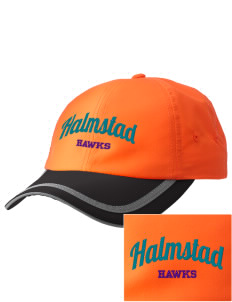 Halmstad Elementary School Hawks  Embroidered Safety Cap