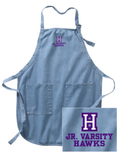 Halmstad Elementary School Hawks Embroidered Full-Length Apron with Pockets
