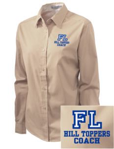 Forest Lane Elementary School Hill Toppers Embroidered Women's Easy-Care Shirt