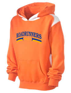 Royce Elementary School Roadrunners Kid's Pullover Hooded Sweatshirt with Contrast Color