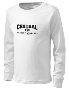 Central Middle School Wildcats  Kid's Long Sleeve T-Shirt